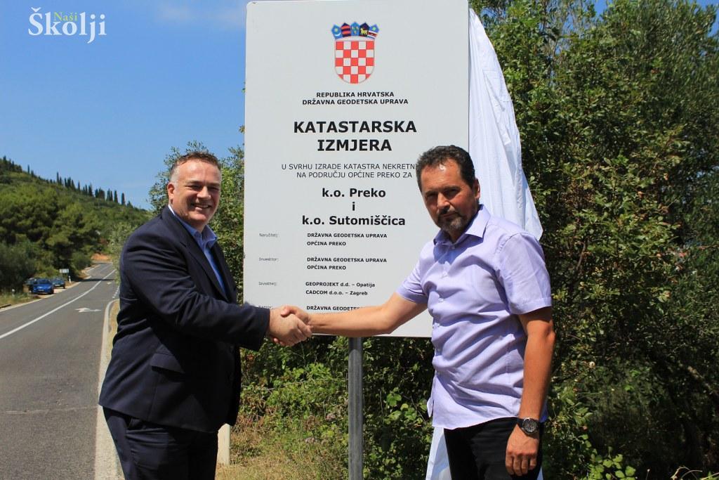 Potpisan ugovor o Katastarskoj izmjeri za k. o. Preko i Sutomišćica