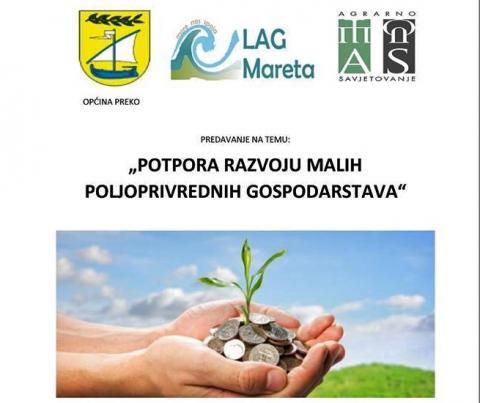 Radionica u POU Dom na žalu: Potpore za malo poljoprivredno gospodarstvo