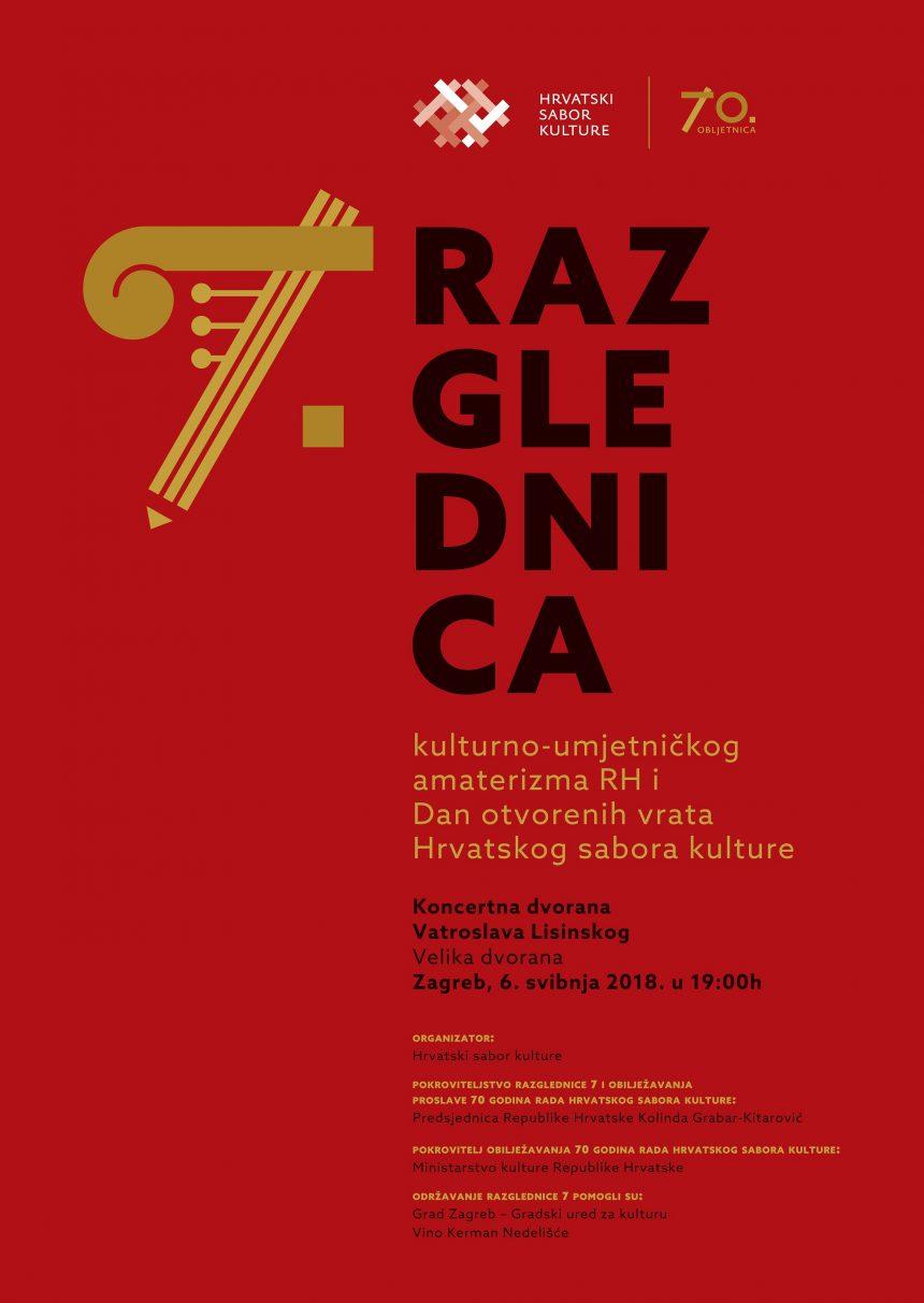 Poziv na Razglednicu 7, Koncertna dvorana Vatroslava Lisinskog u Zagrebu, 6. svibnja 2018. s početkom u 19 sati
