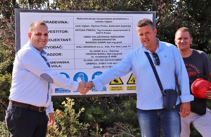 Rekonstrukcija nerazvrstane prometnice u naselju Ugljanu, Općina Preko
